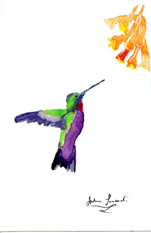 Wet on Wet Hummingbird