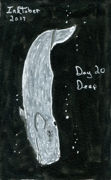 Inktober Day 22 Deep Sperm Whale