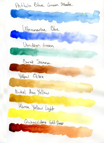 QOR Watercolor Swatches for Review