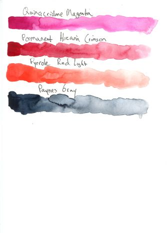 QOR Watercolor Swatches for Review 2
