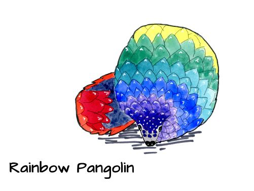 raindbow pangolin