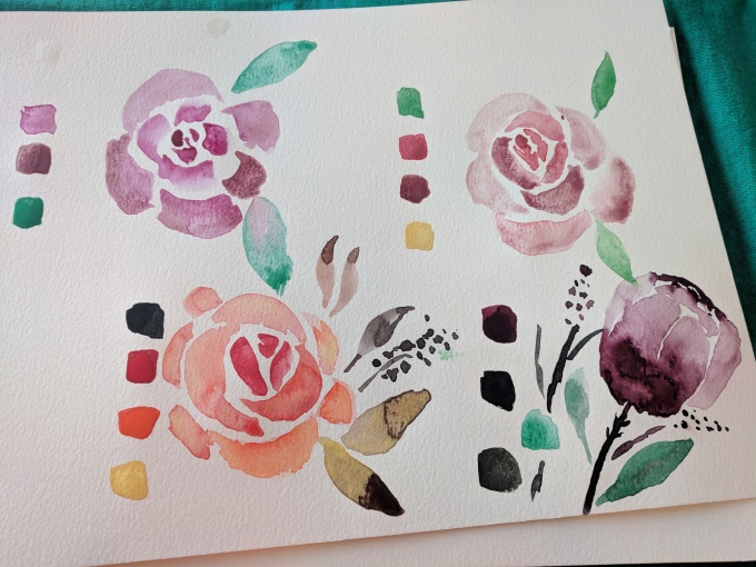 Schmincke Watercolor Roses